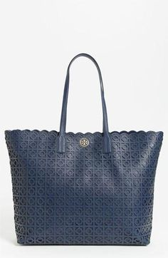 Navy obsessed! Tory Burch Kelsey Tote