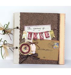 the journey of love * Scrapbook - PS i love u * Ideal for wedding reception or home décor * Design by Fairy Corner - Fairycorner.vn