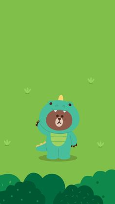Lines Wallpaper, Bear Wallpaper, Emoji Wallpaper, Cute Anime Wallpaper, Cute Cartoon Wallpapers, Wallpaper Backgrounds, Line Brown Bear, Melody Hello Kitty, Dinosaur Wallpaper