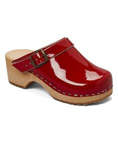 Look at this Cranberry Patent Leather Clog - Toddler & Kids on #zulily today!