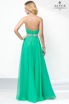 Alyce Paris | Style 35829 | Strapless Green Dress | Green Prom Dress