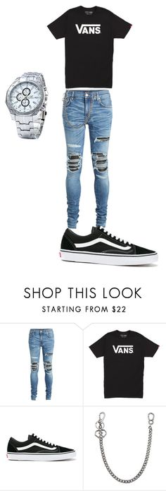 """""""cool outfit"""" by inessophiefromaustria ❤ liked on Polyvore featuring AMIRI, Vans, Dsquared2, men's fashion and menswear"""