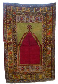 Vintage Avanos Turkish Prayer Carpet