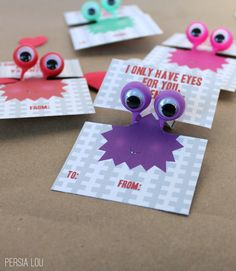 Persia Lou: I Only Have Eyes for You Printable Valentines