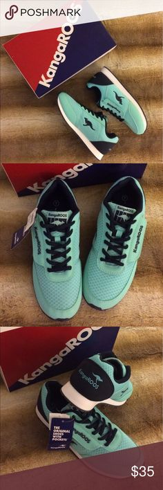 KangaRoos Sneakers NWT KangaRoos mint, dark blue and ivory Sneakers. KangaRoos Shoes Athletic Shoes