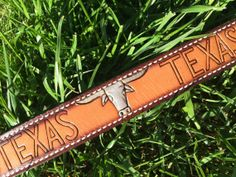 Leather Embossed Hand Painted Cuff with Texas by HippieChicHealing, $37.00
