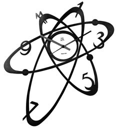 Atom Clock. Specially designed to resemble the the atomic planetary model, this clock stands apart from typical squarish or circular clocks. (Image Credit: Arti & Mestieri)