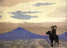Mother of Genghis Khan, 1931 by Nicholas Roerich. Symbolism. history painting
