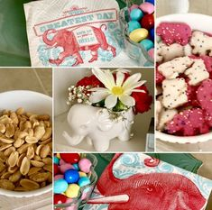 """My Themed Tribute To The Little Elephant, Dumbo, Who Brings Us To Tears and Cheers Through His """"Tail"""" - Lindy's List Shelled Peanuts, New Movies Coming Out, White Carnation, Ceramic Elephant, Raspberry Lemonade, Mixed Feelings, Losing A Child, Little Elephant, Circus Theme"""