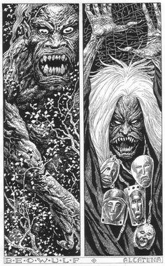 Quique Alcatena Art & Comics  Grendel y su madre / Grendel and his mother