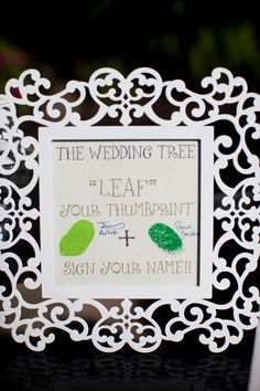 "to go with the ""guest book"" tree"
