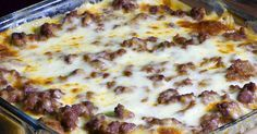 Sausage, Croissants, And Cheese Make This A Breakfast Casserole You Won't Want To Miss!
