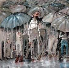 Lisa Aisato N'jie Solberg is the artist behind this fabulous picture. Love her work ♥ Rain Art, Sun Umbrella, Parasols, Drawing S, Norway, Childrens Books, Illustrators, Love Her, Lisa