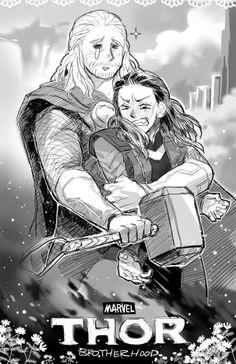 une affiche de Thor the Dark World... regardez bien la différence d'émotion sur leurs visages XD