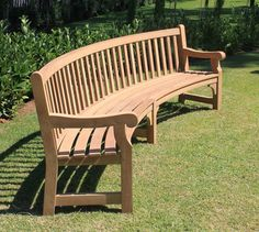 curved wooden garden bench - Google Search