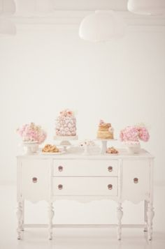 Add an antique to your wedding buffet to add instant character..   Bows and Arrows Event Design