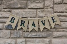 BRAVE garland,   BRAVE Party,  party prop, BRAVE banner, disney Brave, Brave birthday,  Team Dunbroch. via Etsy.