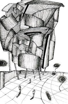 Sketch copying gehry! by xxxfashonxxx.deviantart.com on @deviantART