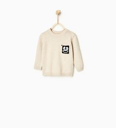 Sweater with pocket appliqué-JACKETS, CARDIGANS AND SWEATERS-BABY BOY | 3 months-3 years-KIDS-SALE | ZARA United States