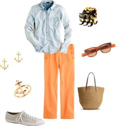 """""""causal chambray"""" by tanecha-webb ❤ liked on Polyvore"""