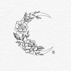 30 Best hot trendy tattoos moon design ideas for women 30 Best hot trendy tat . - 30 Best hot trendy tattoos moon design ideas for women 30 Best hot trendy tat Tatto Drawings - Floral Tattoo Design, Flower Tattoo Designs, Flower Tattoo Drawings, Small Tattoo Designs, Drawing Tattoos, Tattoo Floral, Design Tattoos, Tattoo Design Drawings, Tattoo Designs For Women