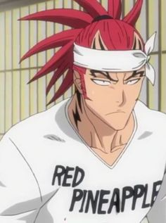 His shirt describes what his hair looks like quite well. Bleach Renji, Renji Abarai, Bleach Art, Bleach Anime, Anime Love, Anime Guys, Comic Con Costumes, Shinigami, Drawing Skills