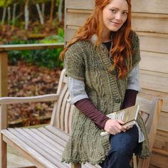 Willow leaves cardigan