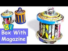 How to make a box with magazine - YouTube