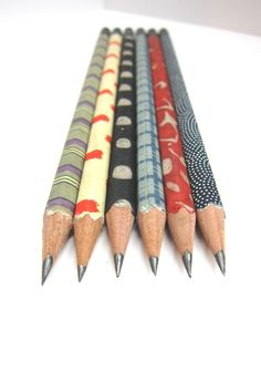 Paper Wrapped Pencils - Set of 6 | $13.00 | nicopapergoods on etsy