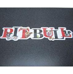 Pit Bull Alphabet Car Magnet, Dog Park Publishing