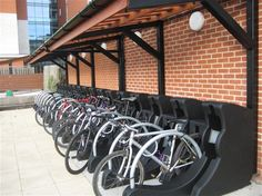 bike shelters at Wellington Place