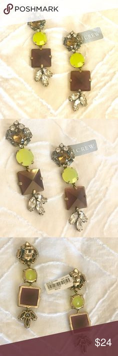 J. Crew Rhinestone Earrings NWT J. Crew sparkly rhinestone drop earrings.   Post backs. J. Crew Jewelry Earrings
