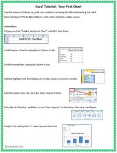Computer Lab - Excel lesson to teach beginning excel users to enter data and create a simple chart Computer Literacy, Teaching Computers, Computer Lessons, School Computers, Computer Class, Computer Basics, Teaching Technology, Educational Technology, Teaching Plan