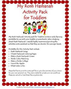 A Jewish Homeschool Blog: Jewish Activity Packs. Great for pre-schoolers