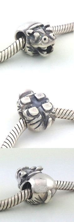 Fine Charms and Charm Bracelets 140956: Authentic Pandora Hippo Sterling Silver Bead Charm 790334, New Rare, Retired BUY IT NOW ONLY: $44.99