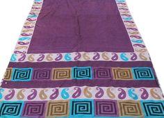 FREE SHIPPING Vintage Silk Fabric SariPrinted by Thepuranabazaar