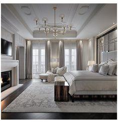 Dream Master Bedroom, Glam Bedroom, Master Bedroom Design, Small Room Bedroom, Home Decor Bedroom, Modern Bedroom, Mansion Bedroom, Romantic Master Bedroom, Bedroom Rugs