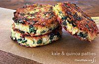 healthy kale quinoa patties recipe