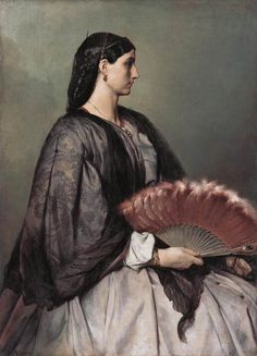Portrait of Anna 'Nanna' Risi, a model and muse of the artist | Anselm Feuerbach…