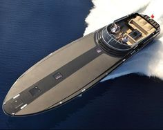 The Magnum Marine 60 is the fastest yacht of this size in the world. Equipped with between 1600 and 2600 HP each MTU or Caterpillar twin diesel engines coupled to Arneson surface drives she may reach speed of up to 75 mph. by yachts_world