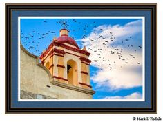 Magical Bell Tower in Mexico by Mark E Tisdale - a chance encounter with a flock of birds and a bell tower on a colonial church in Oaxaca Mexico.