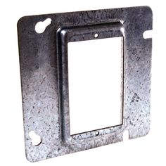 """*NEW* 4-11//16/"""" Square Electrical Box Cover 1//2/"""" Raised 2 Duplex Receptacles"""