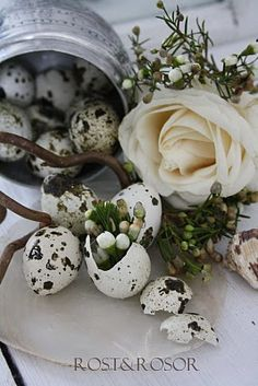 Early Easter inspiration .... - Rust and roses