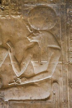 Bas-relief of the Goddess Sekhmet, Temple of Seti I, Abydos, Egypt