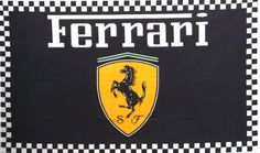 NEOPlex 3' x 5' Automotive Logo Flag - Ferrari Black by NEOPlex. $19.95. This 3 x 5 foot automotive logo advertising flag is made from super polyester that is durable, yet lightweight enough to fly in even the lightest breeze. It has 2 brass grommets firmly attached to heavy canvas on the inner fly side. Bright, vivid colors and colorfast to reduce fading. Many titles to choose from.. Save 60% Off!