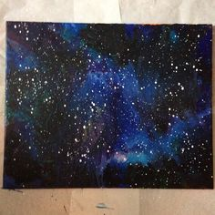 Original galaxy design made entirely from melted crayons