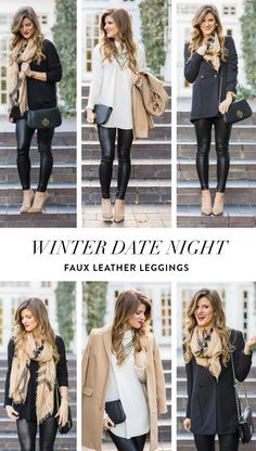 Winter Date Night Outfit Idea: Faux Leather Leggings