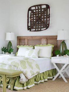 Cheap & Chic DIY Headboard Ideas    Make a personal statement in your bedroom retreat with a pretty DIY headboard for the bed.  Re-treated & Refreshed