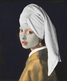 Famous Art Paintings, Appropriation Art, Postmodern Art, Funny Profile Pictures, Beige Wallpaper, Art Phone Cases, Johannes Vermeer, Disney Images, Masks Art