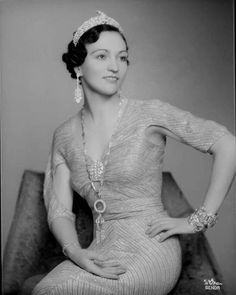 Princess Ruhije of Albania in her oaf leaf and ram's head tiara Royal Crowns, Royal Jewels, Tiaras And Crowns, Crown Jewels, Great Women, High Society, Royal Fashion, Lady, Queen Mother